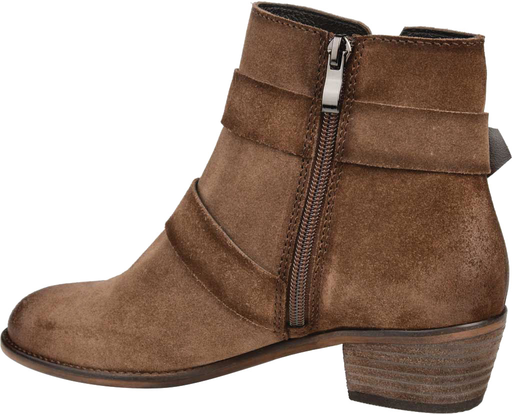 Women's Journee Collection Errin Ankle Bootie, Brown Distressed Suede, large, image 4
