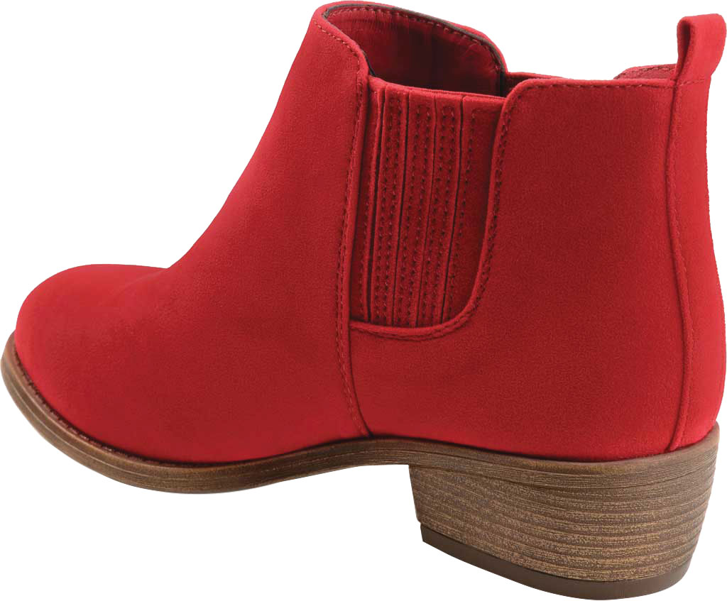 Women's Journee Collection Ramsey Chelsea Bootie, Red Faux Suede, large, image 4