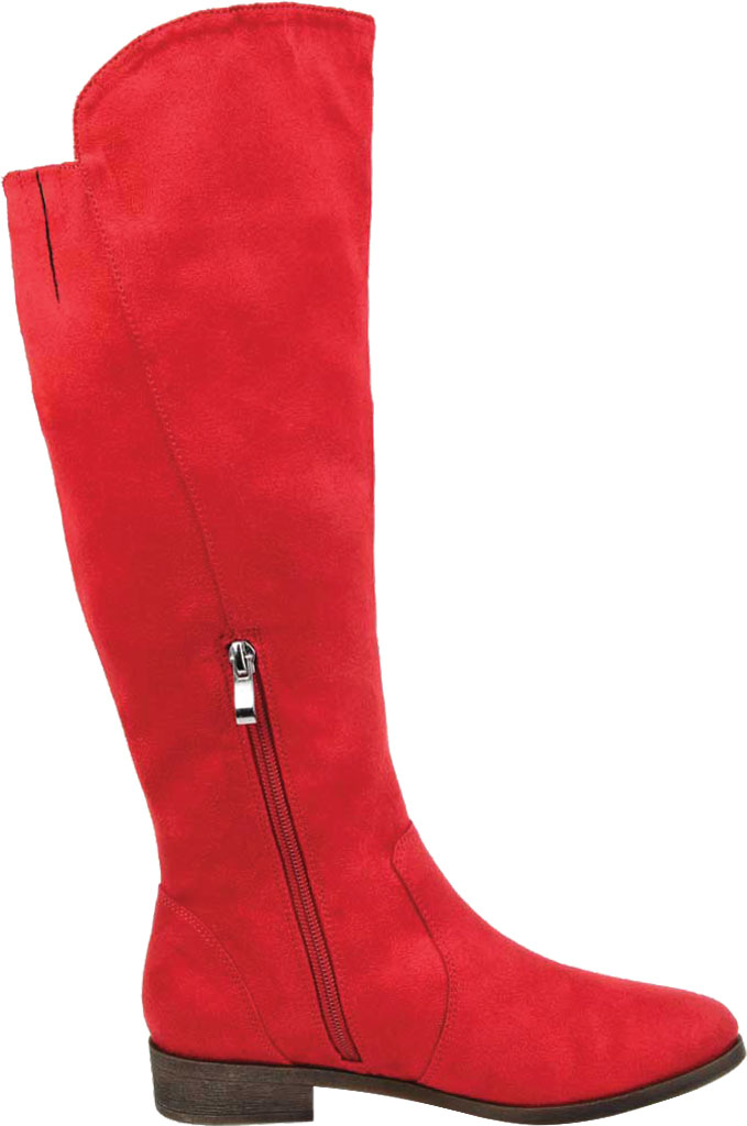 Women's Journee Collection Kerin Extra Wide Calf Knee High Boot, Red Microsuede, large, image 2