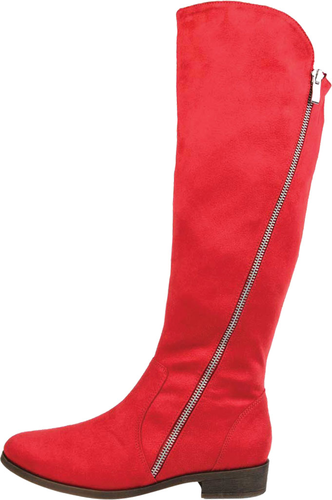 Women's Journee Collection Kerin Extra Wide Calf Knee High Boot, Red Microsuede, large, image 3
