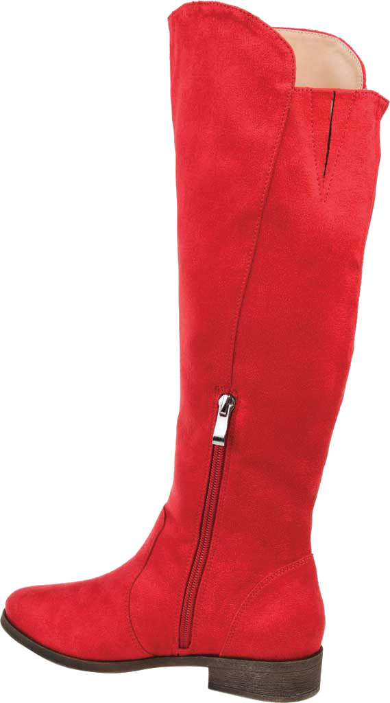 Women's Journee Collection Kerin Extra Wide Calf Knee High Boot, Red Microsuede, large, image 4