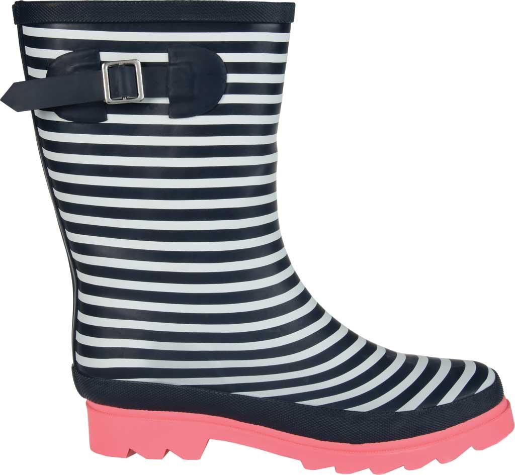 Women's Journee Collection Seattle Mid Calf Rain Boot, Stripe Rubber, large, image 2