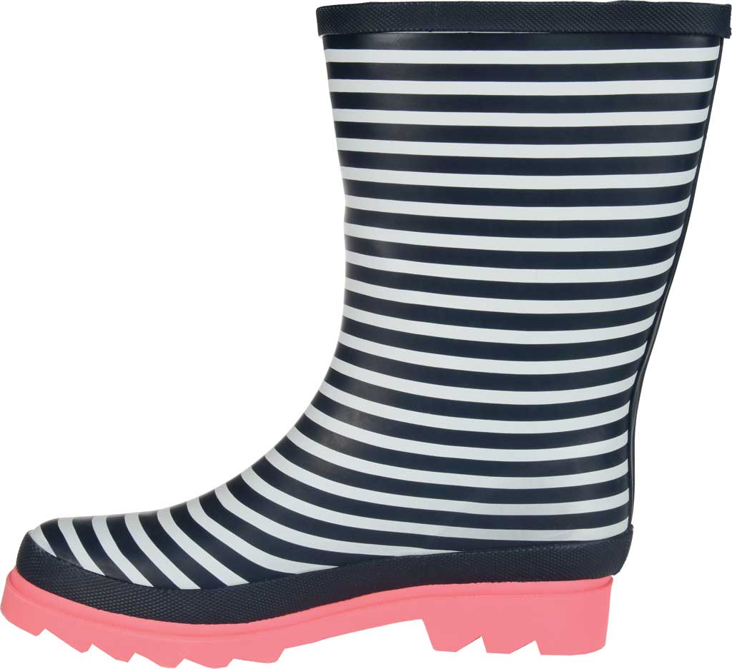 Women's Journee Collection Seattle Mid Calf Rain Boot, Stripe Rubber, large, image 3