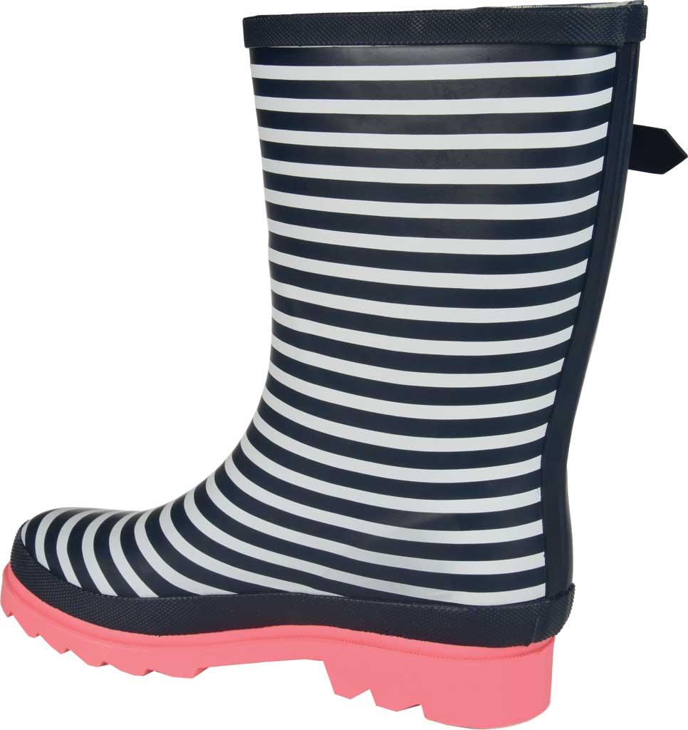 Women's Journee Collection Seattle Mid Calf Rain Boot, Stripe Rubber, large, image 4