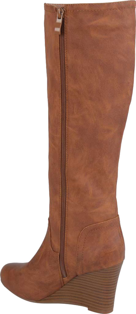 Women's Journee Collection Langly Wedge Heel Knee High Boot, Brown Faux Leather, large, image 4