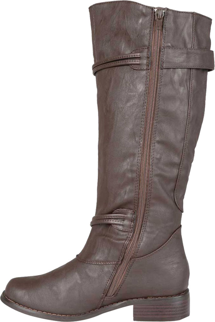Women's Journee Collection Harley Wide Calf Knee High Boot, Brown Faux Leather, large, image 3