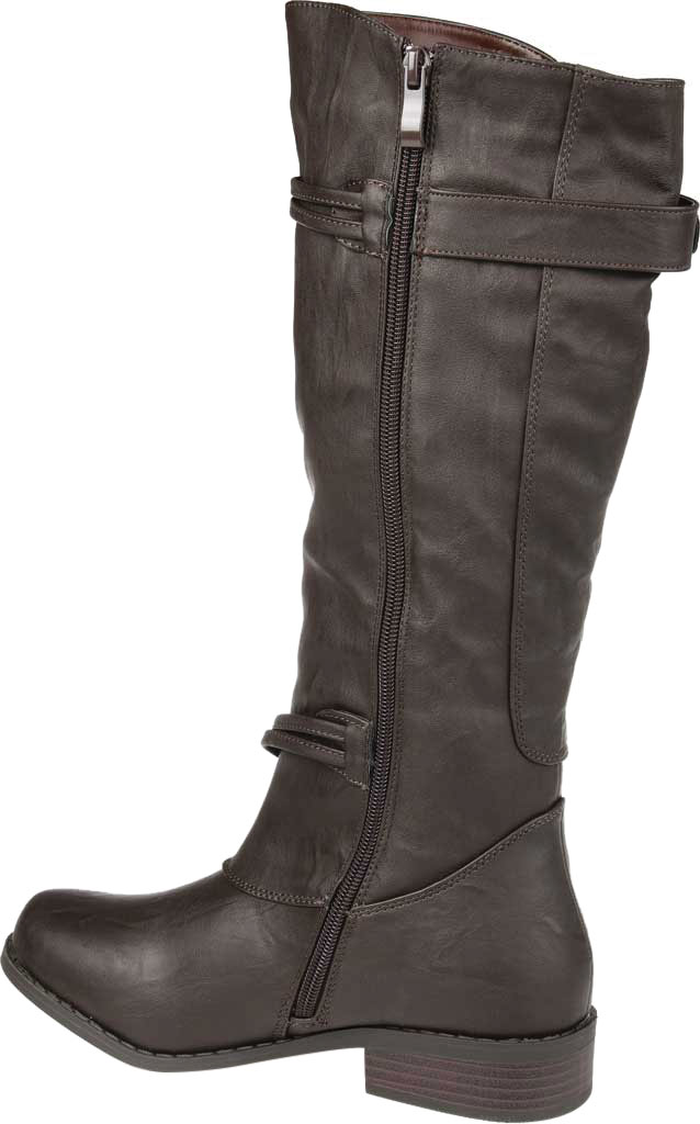 Women's Journee Collection Harley Wide Calf Knee High Boot, Brown Faux Leather, large, image 4