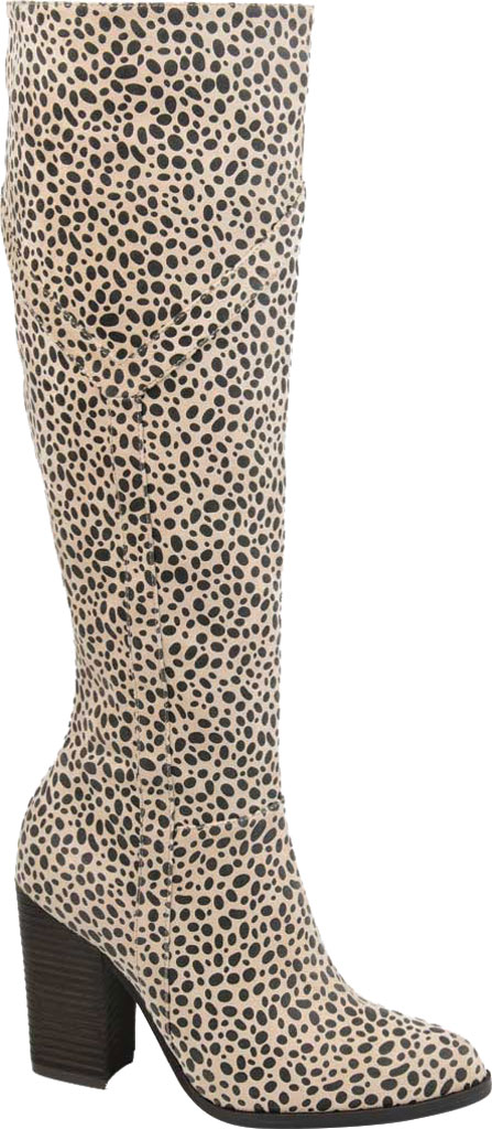 Women's Journee Collection Kyllie Knee High Boot, Animal Faux Suede, large, image 1