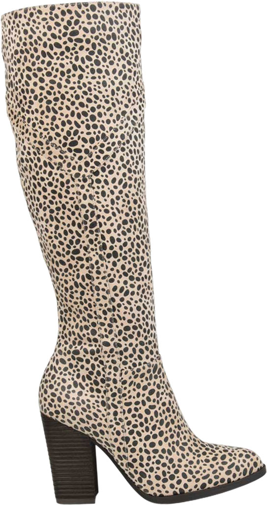 Women's Journee Collection Kyllie Knee High Boot, Animal Faux Suede, large, image 2