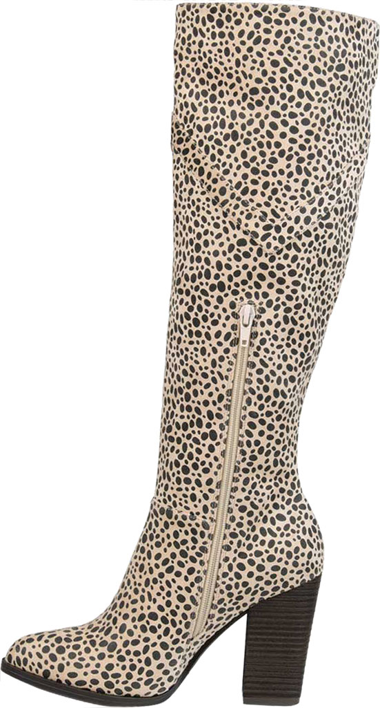 Women's Journee Collection Kyllie Knee High Boot, Animal Faux Suede, large, image 3
