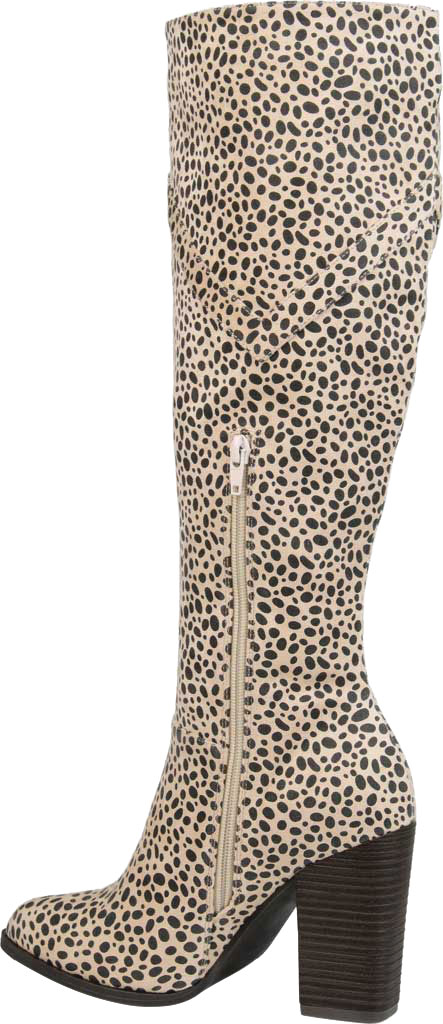 Women's Journee Collection Kyllie Knee High Boot, Animal Faux Suede, large, image 4