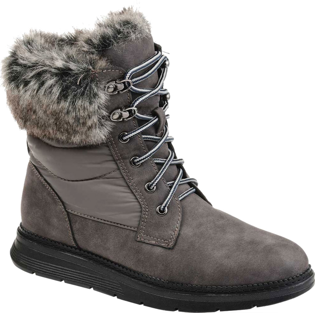 Women's Journee Collection Flurry Waterproof Boot, Grey Manmade, large, image 1