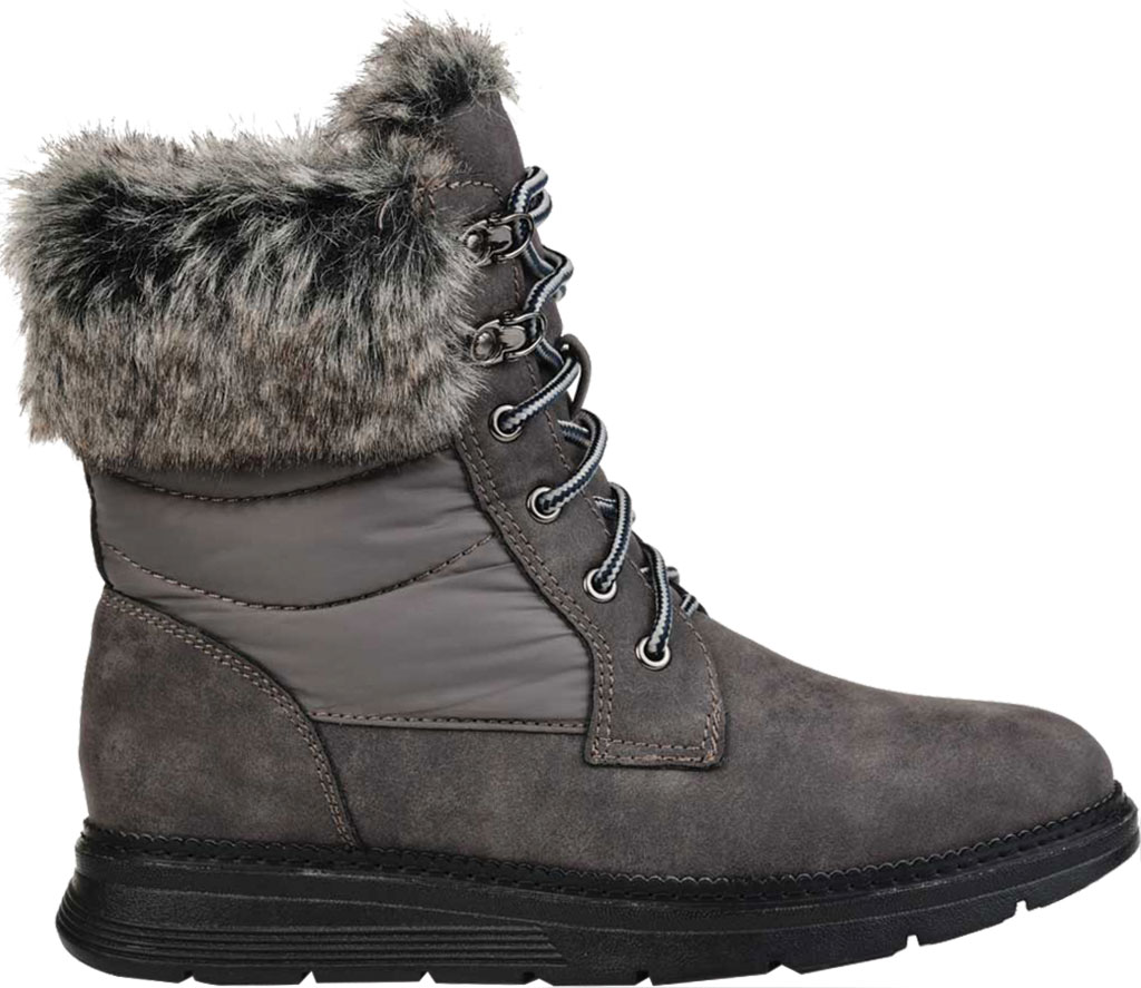 Women's Journee Collection Flurry Waterproof Boot, Grey Manmade, large, image 2