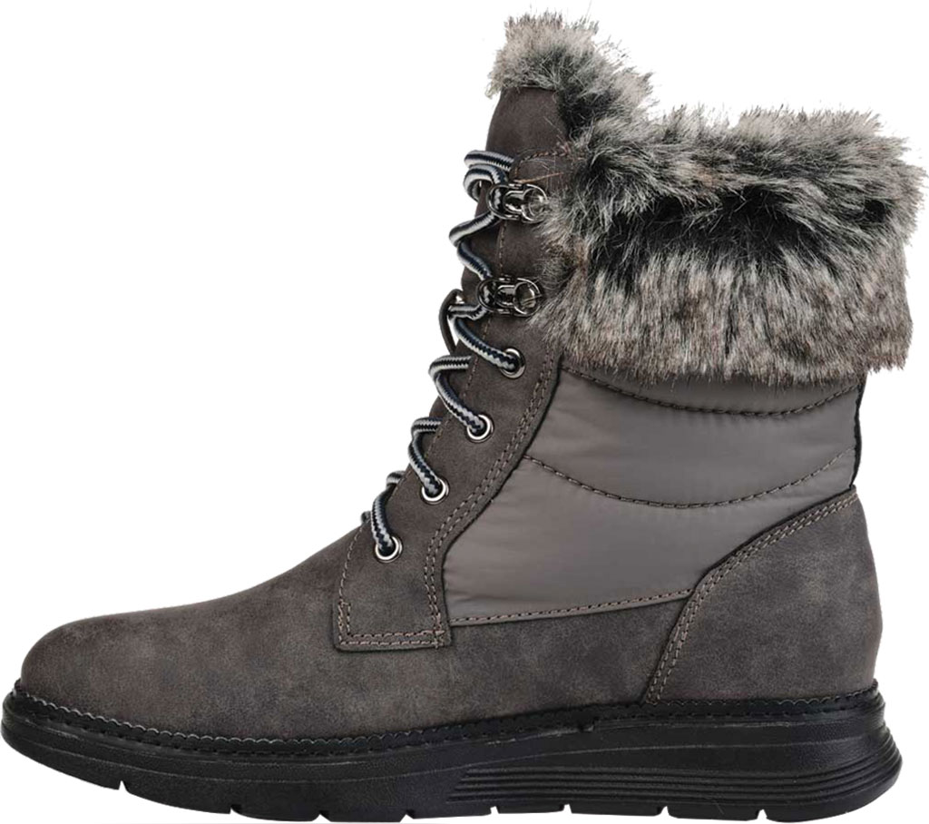 Women's Journee Collection Flurry Waterproof Boot, Grey Manmade, large, image 3