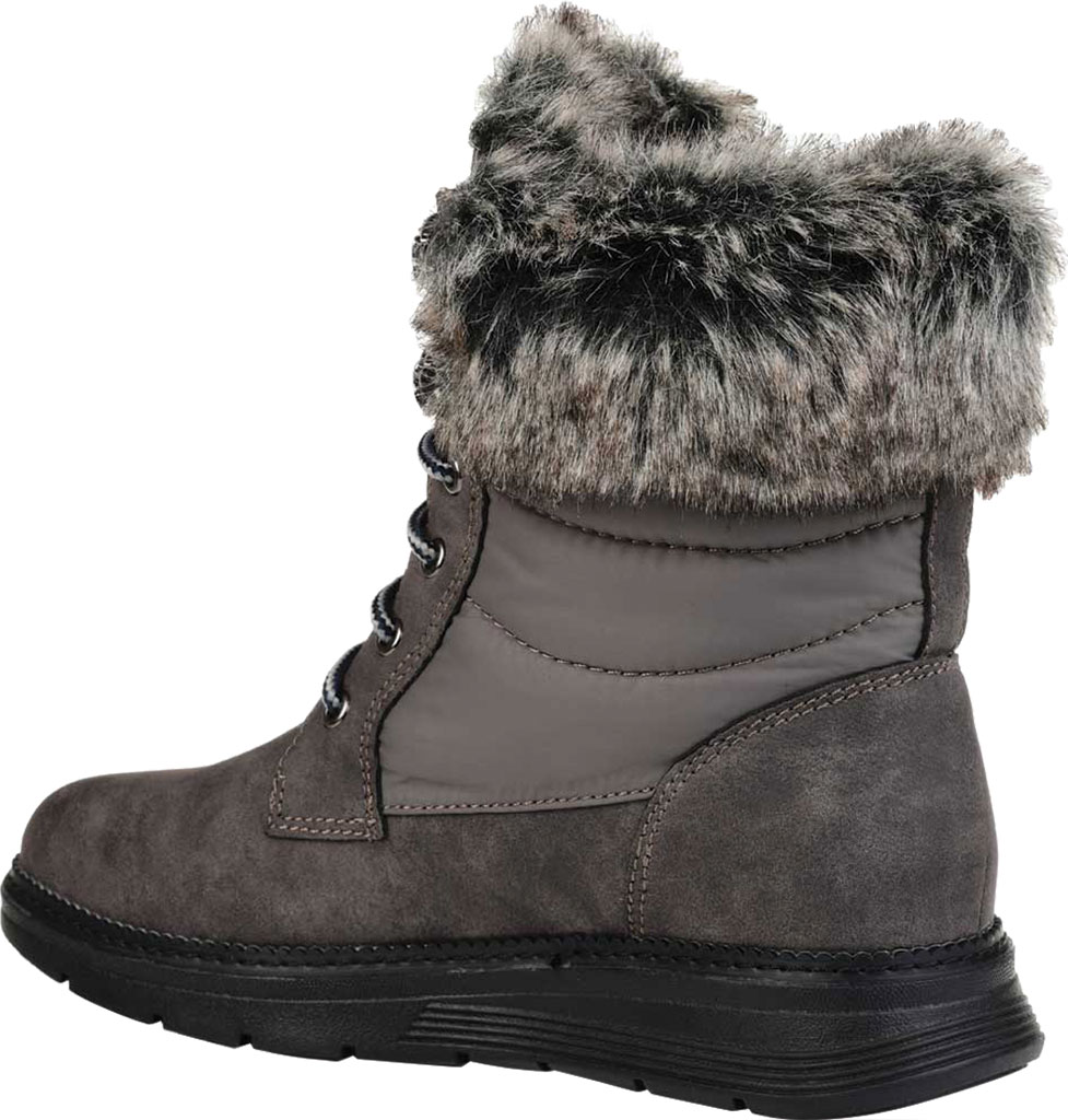 Women's Journee Collection Flurry Waterproof Boot, Grey Manmade, large, image 4