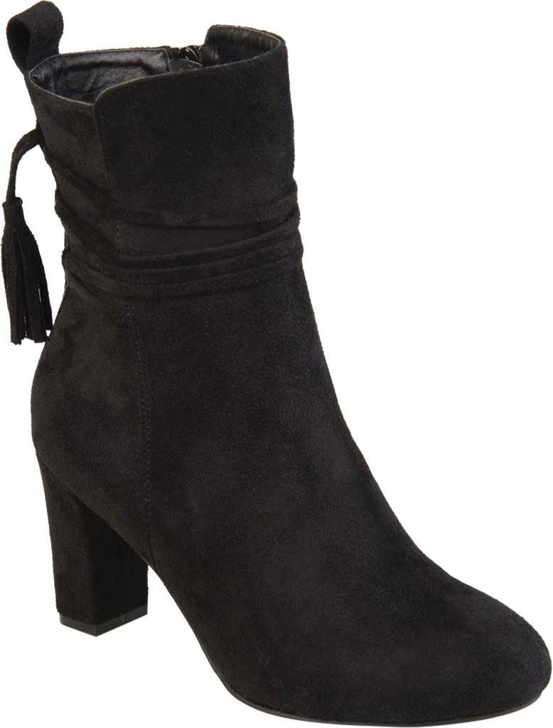 Women's Journee Collection Zuri Heeled Mid Calf Boot, Black Faux Suede, large, image 1