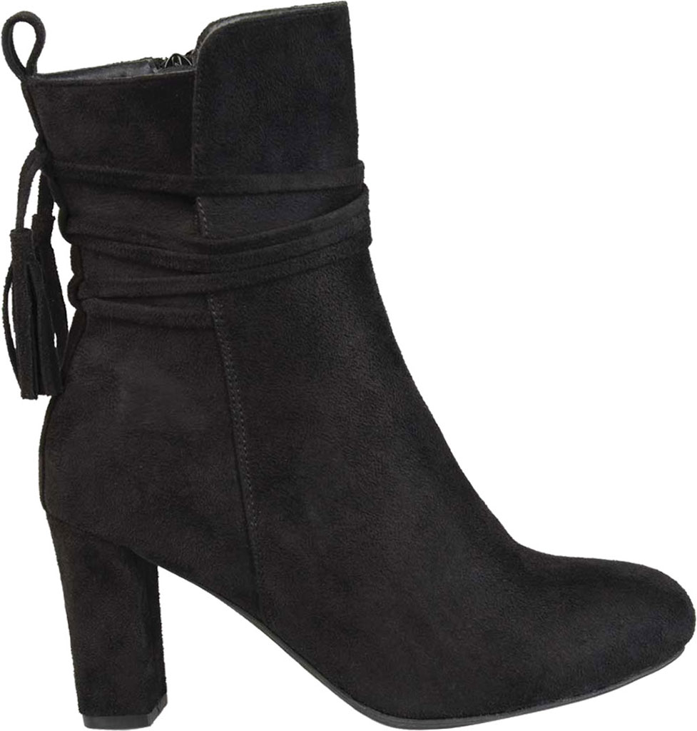 Women's Journee Collection Zuri Heeled Mid Calf Boot, Black Faux Suede, large, image 2