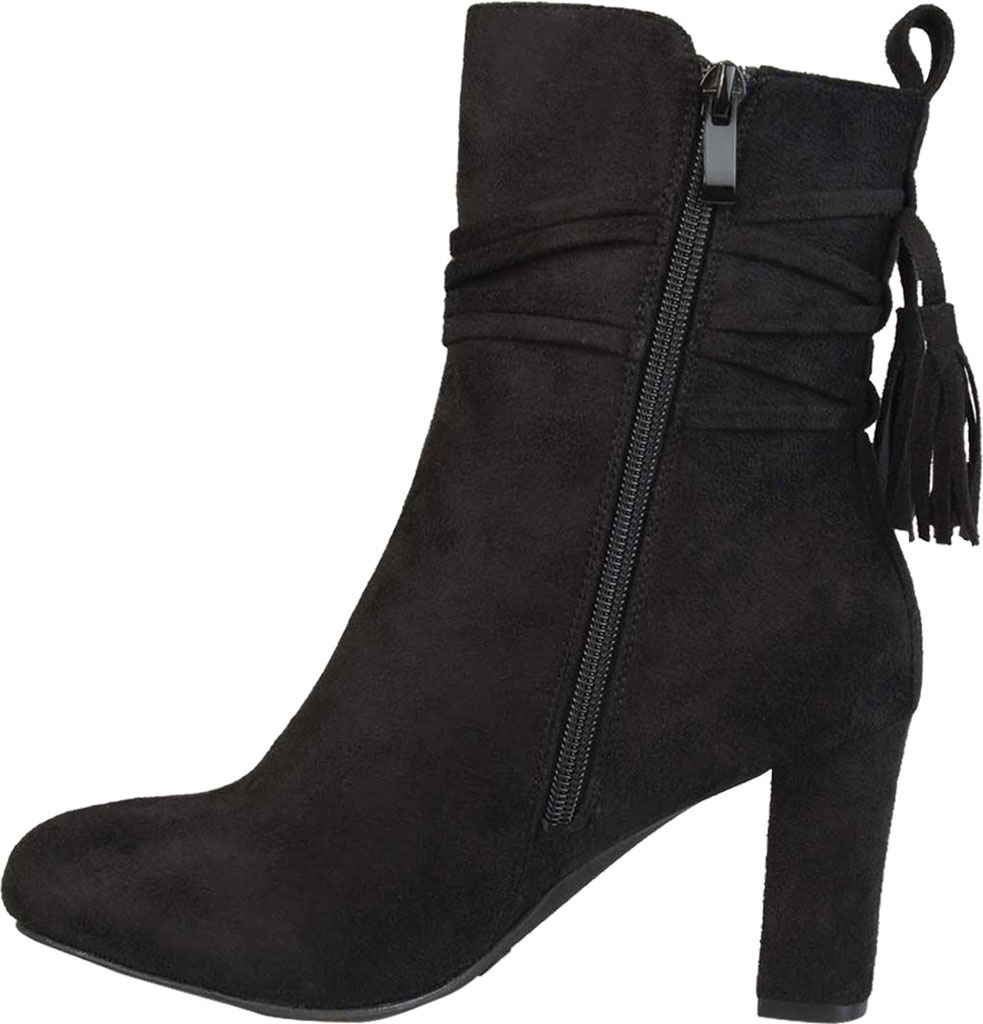 Women's Journee Collection Zuri Heeled Mid Calf Boot, Black Faux Suede, large, image 3