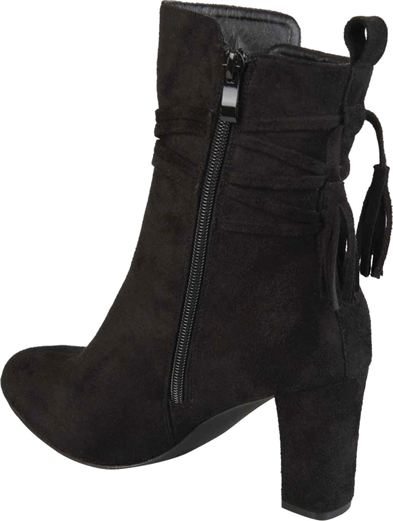 Women's Journee Collection Zuri Heeled Mid Calf Boot, Black Faux Suede, large, image 4