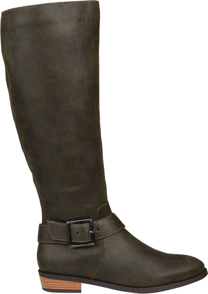 Women's Journee Collection Winona Knee High Boot, Olive Distressed Faux Suede, large, image 2