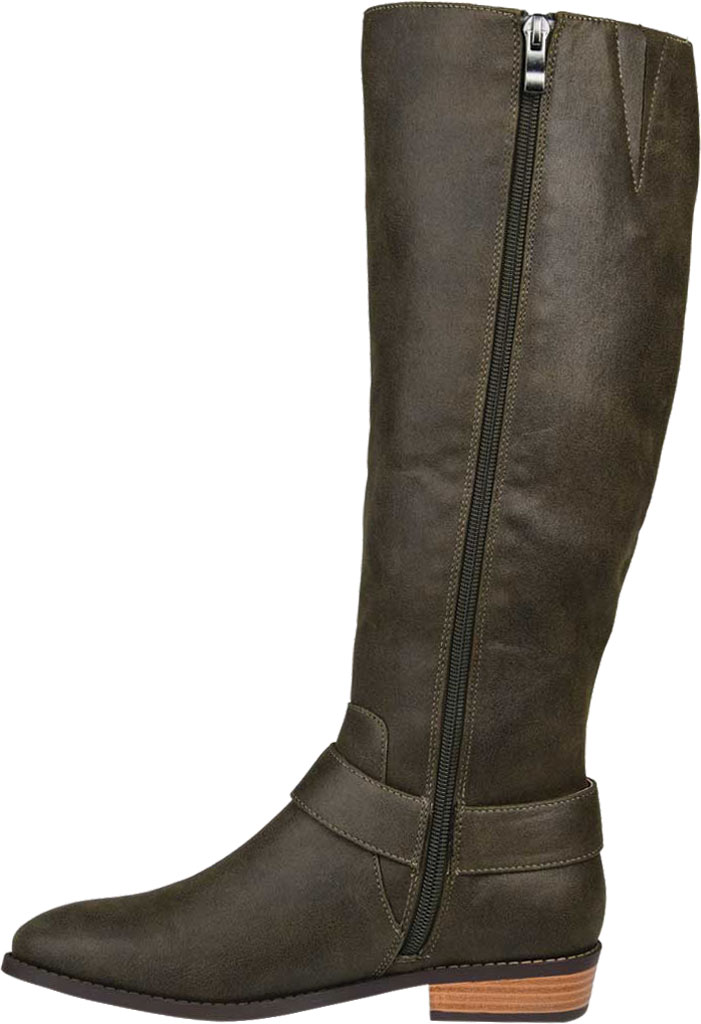 Women's Journee Collection Winona Knee High Boot, Olive Distressed Faux Suede, large, image 3