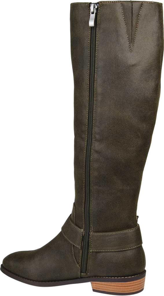 Women's Journee Collection Winona Knee High Boot, Olive Distressed Faux Suede, large, image 4