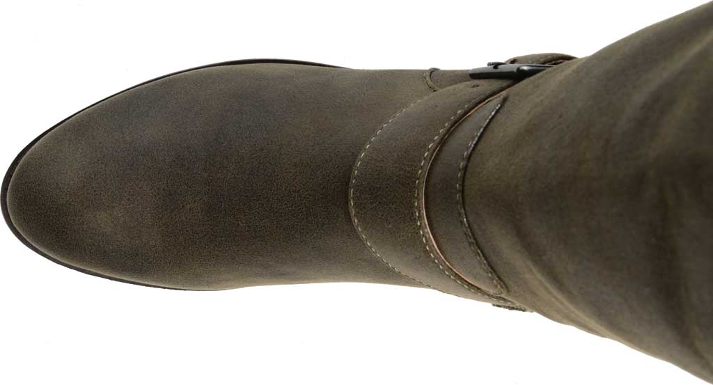 Women's Journee Collection Winona Knee High Boot, Olive Distressed Faux Suede, large, image 5