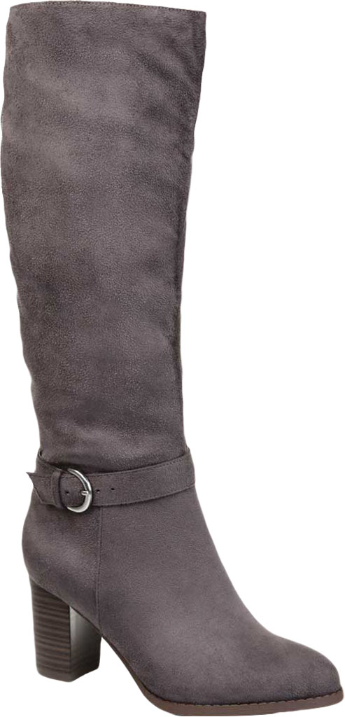 Women's Journee Collection Joelle knee High Boot, Grey Microsuede, large, image 1