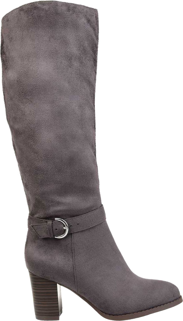 Women's Journee Collection Joelle knee High Boot, Grey Microsuede, large, image 2