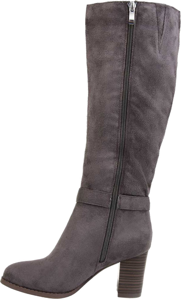 Women's Journee Collection Joelle knee High Boot, Grey Microsuede, large, image 3