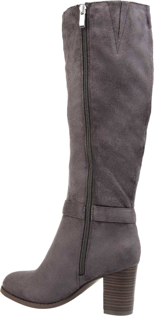 Women's Journee Collection Joelle knee High Boot, Grey Microsuede, large, image 4