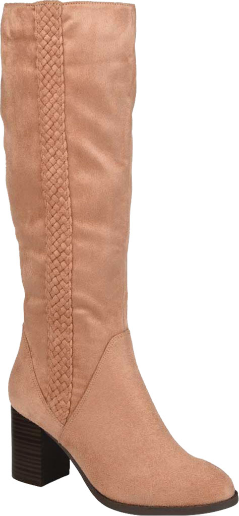 Women's Journee Collection Gentri Wide Calf Knee High Boot, Blush Microsuede, large, image 1