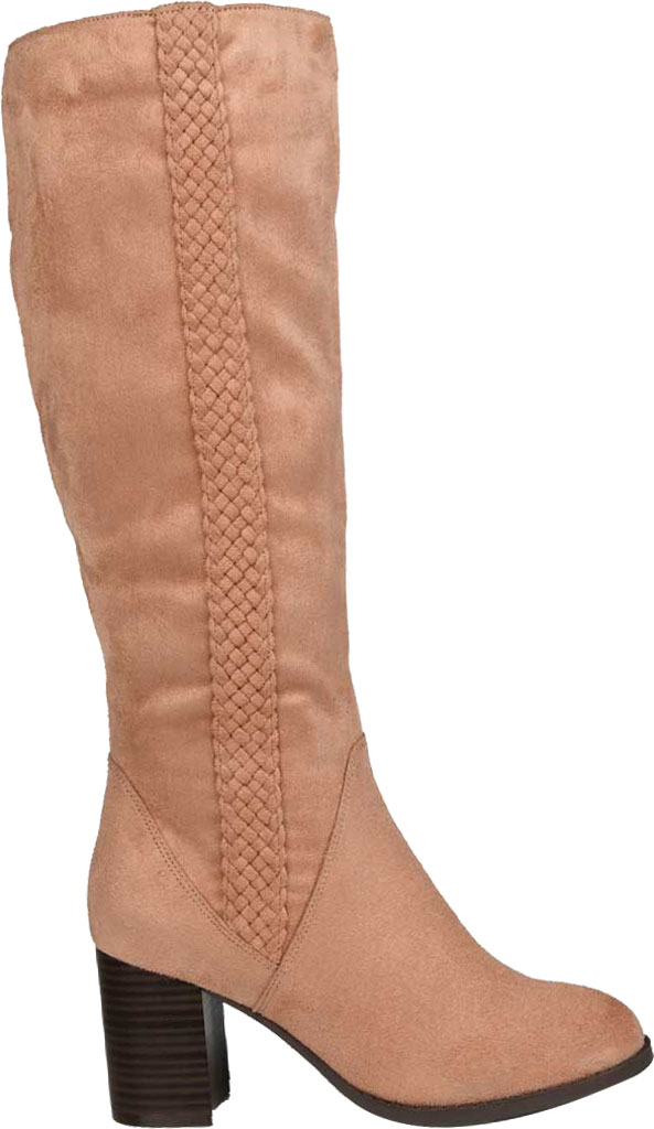Women's Journee Collection Gentri Wide Calf Knee High Boot, Blush Microsuede, large, image 2