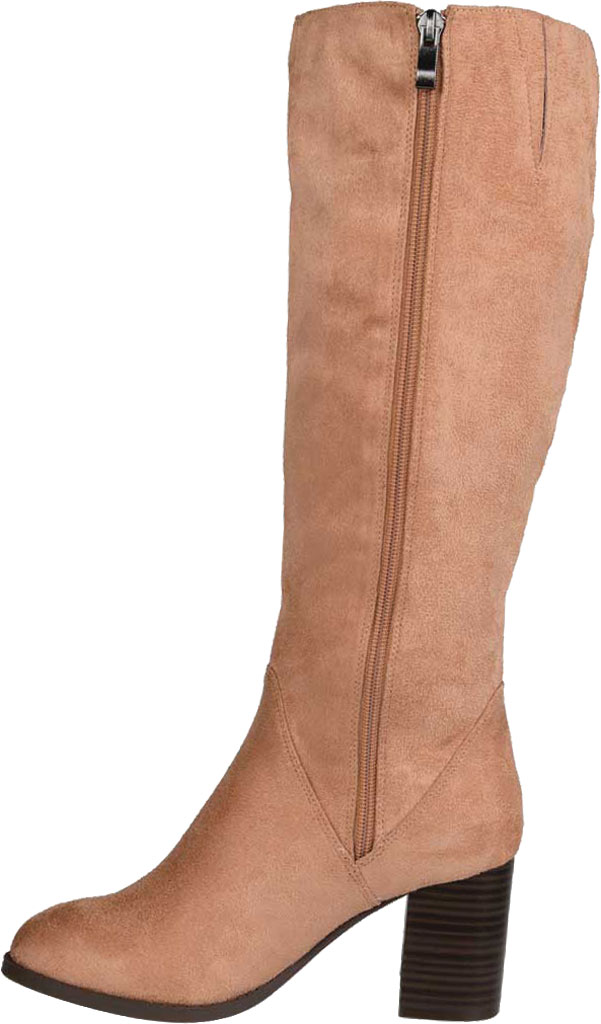Women's Journee Collection Gentri Wide Calf Knee High Boot, Blush Microsuede, large, image 3