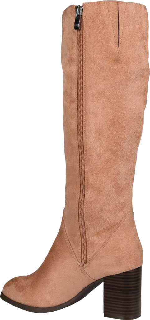 Women's Journee Collection Gentri Wide Calf Knee High Boot, Blush Microsuede, large, image 4