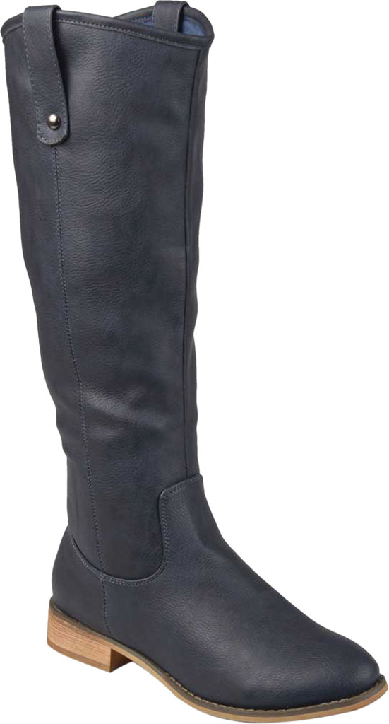Women's Journee Collection Taven Wide Calf Knee High Boot, Blue Faux Leather, large, image 1