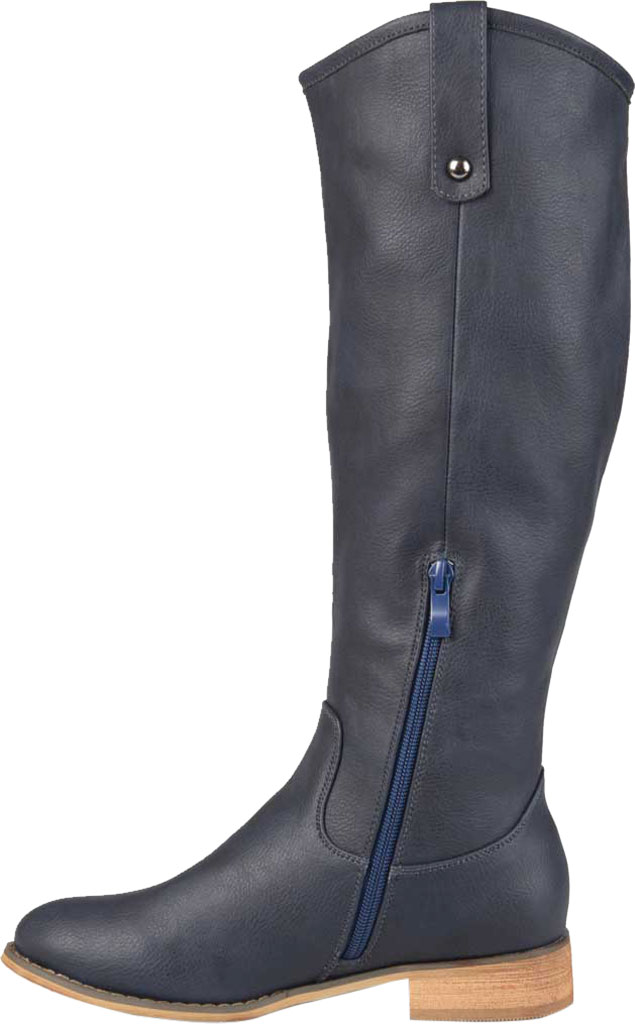 Women's Journee Collection Taven Wide Calf Knee High Boot, Blue Faux Leather, large, image 3