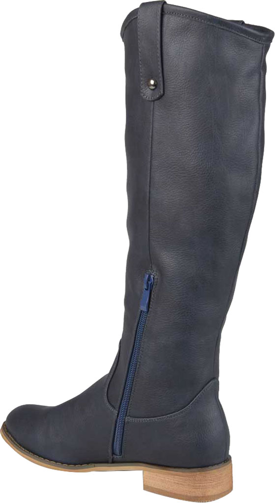 Women's Journee Collection Taven Wide Calf Knee High Boot, Blue Faux Leather, large, image 4