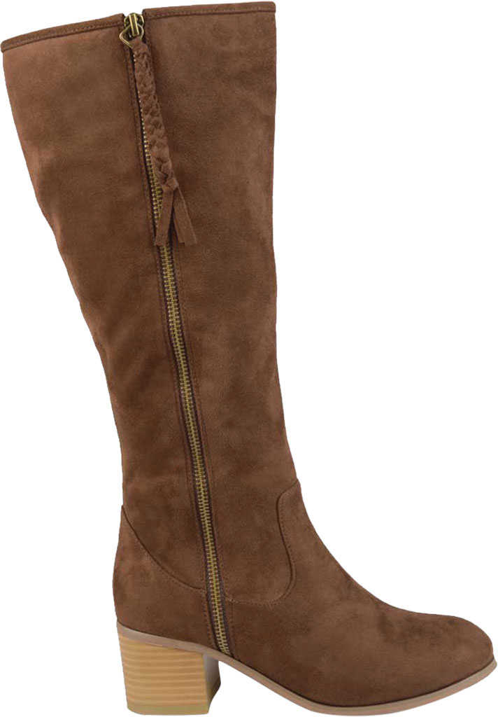 Women's Journee Collection Sanora Wide Calf Knee High Boot, Brown Faux Suede, large, image 2