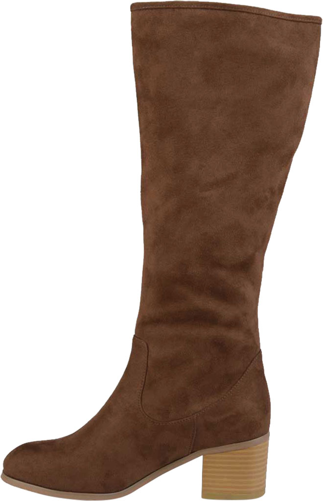 Women's Journee Collection Sanora Wide Calf Knee High Boot, Brown Faux Suede, large, image 3