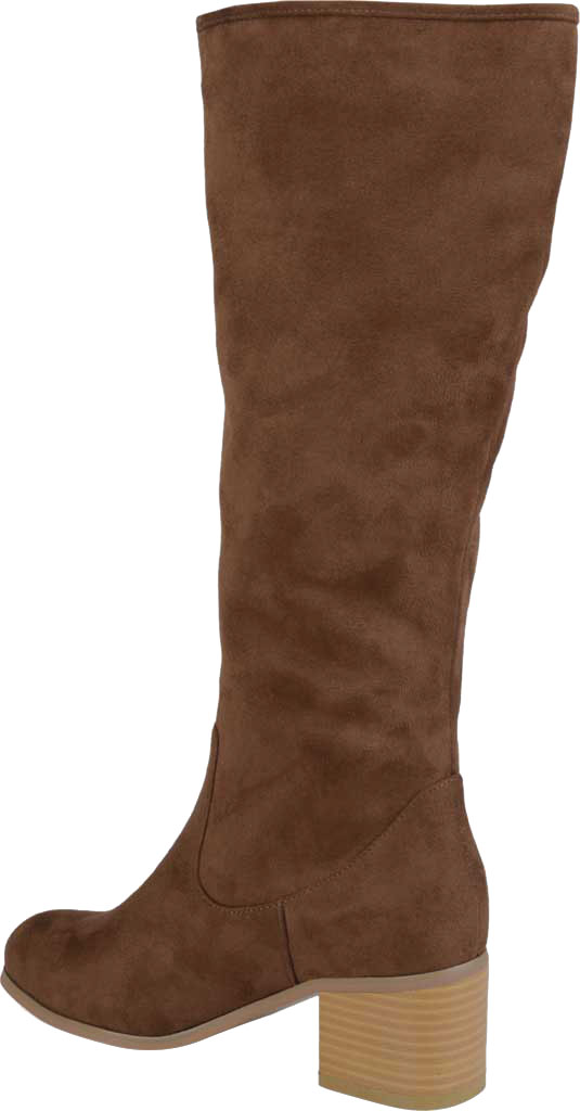 Women's Journee Collection Sanora Wide Calf Knee High Boot, Brown Faux Suede, large, image 4