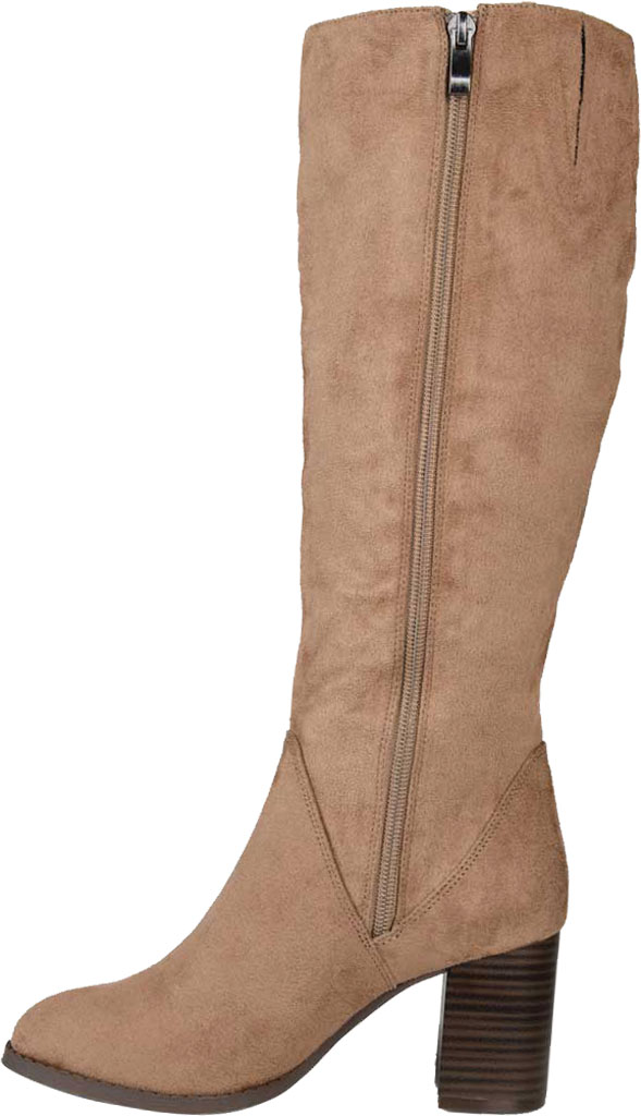 Women's Journee Collection Gentri Knee High Boot, Taupe Microsuede, large, image 3