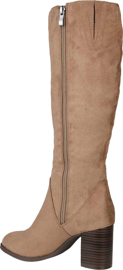 Women's Journee Collection Gentri Knee High Boot, Taupe Microsuede, large, image 4