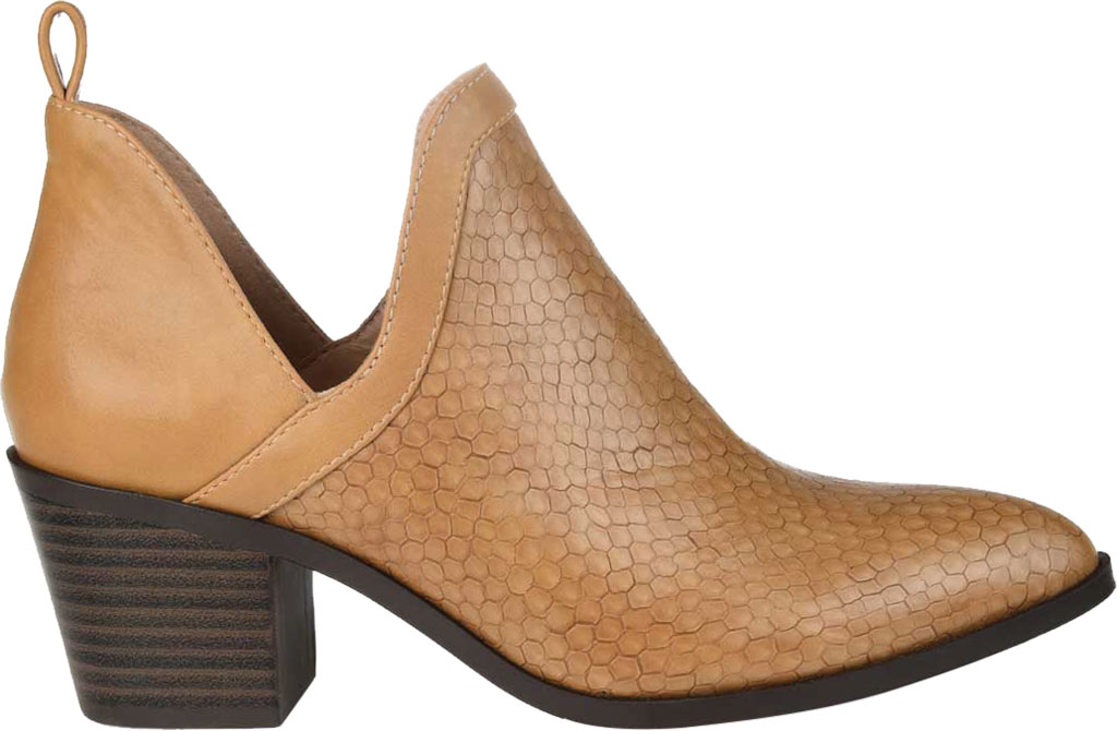 Women's Journee Collection Terri Ankle Bootie, Tan Faux Leather, large, image 2