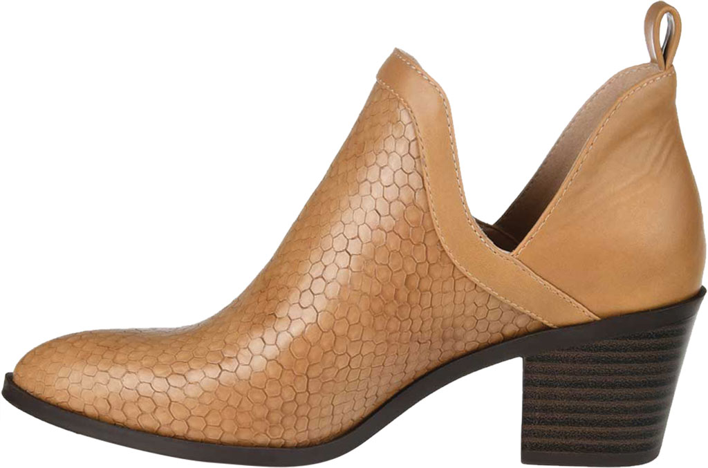 Women's Journee Collection Terri Ankle Bootie, Tan Faux Leather, large, image 3