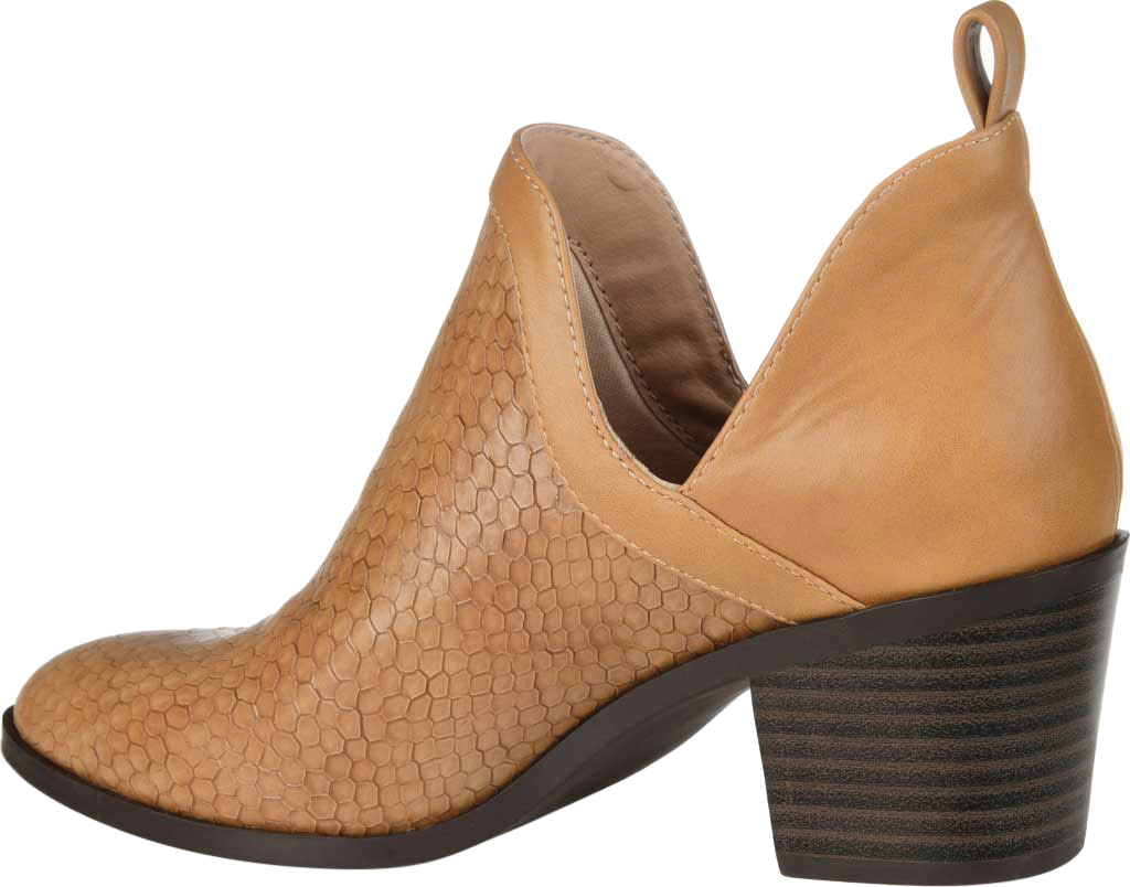 Women's Journee Collection Terri Ankle Bootie, Tan Faux Leather, large, image 4