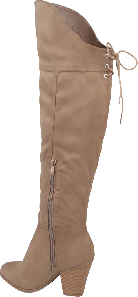 Women's Journee Collection Spritz-S Over The Knee Boot, Taupe Faux Suede, large, image 4