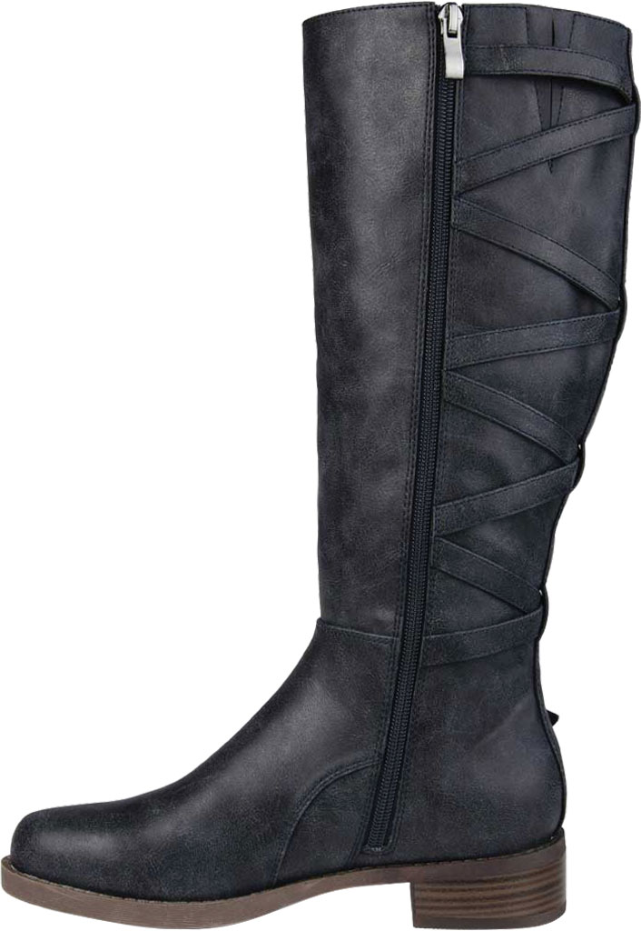 Women's Journee Collection Carly Extra Wide Calf Knee High Boot, Navy Faux Leather, large, image 3