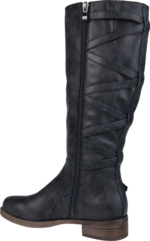 Women's Journee Collection Carly Extra Wide Calf Knee High Boot, Navy Faux Leather, large, image 4