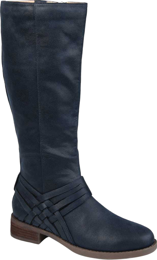 Women's Journee Collection Meg Knee High Boot, Navy Faux Suede, large, image 1